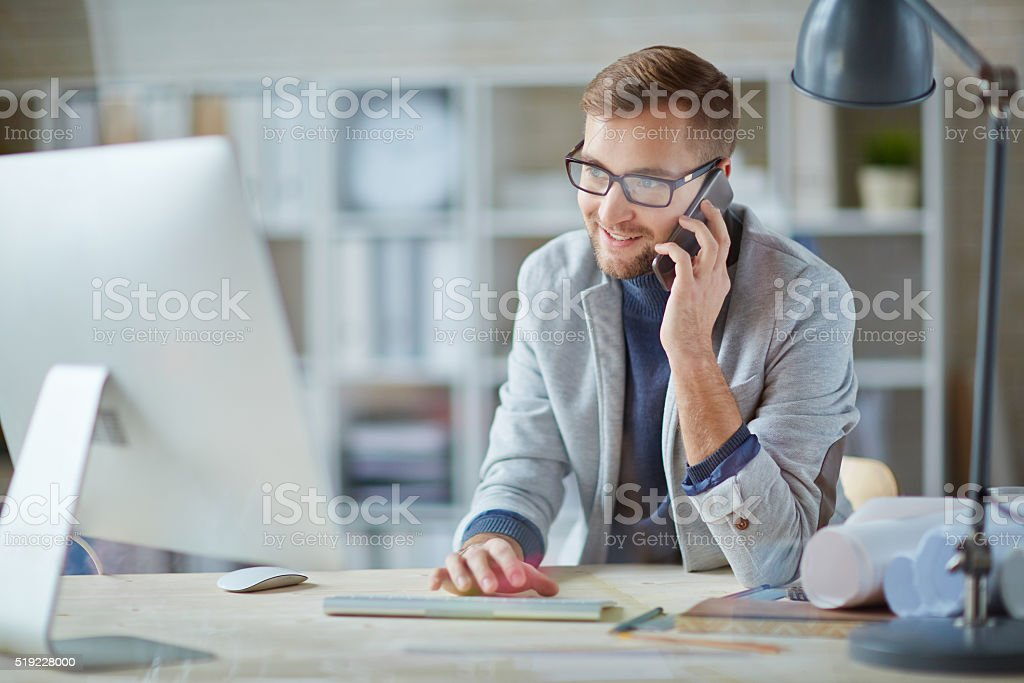 Busy working stock photo