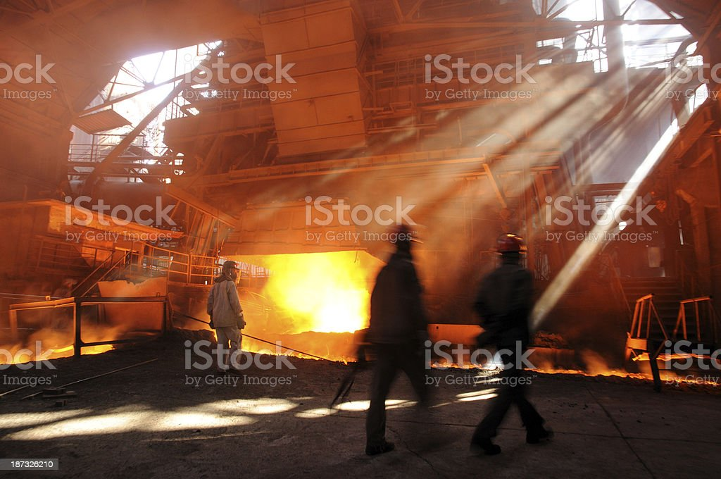 Busy workshop royalty-free stock photo