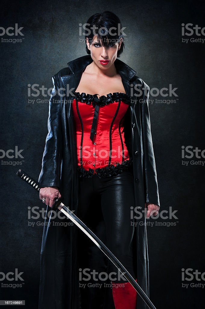 BLADE, but female version stock photo