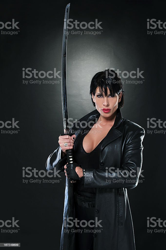 BLADE, but female version royalty-free stock photo