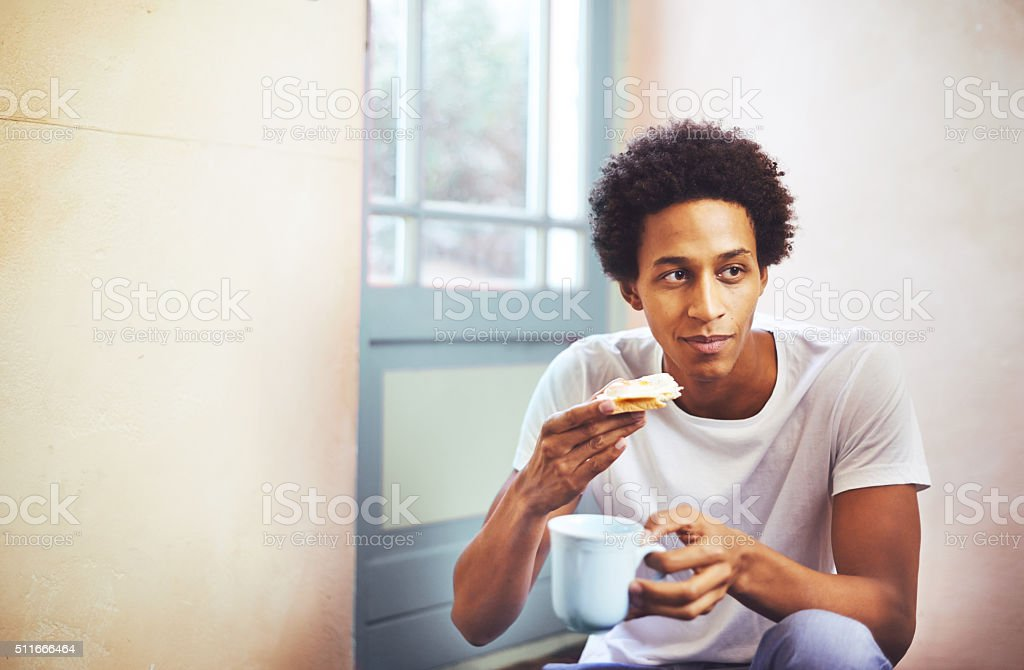 But first, breakfast stock photo