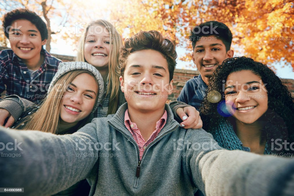 But first, let's take a selfie stock photo