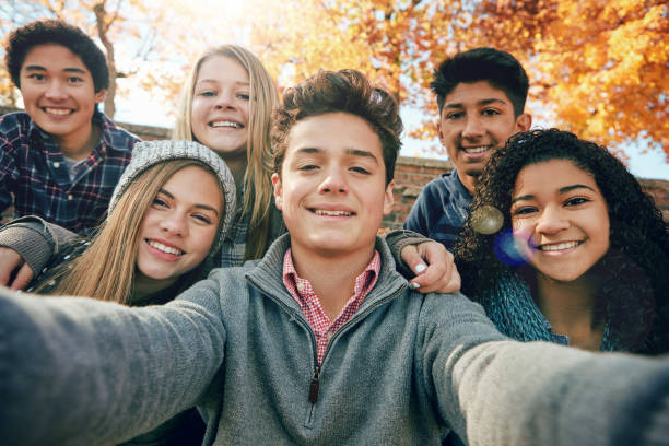 but first, let's take a selfie - teenager stock photos and pictures