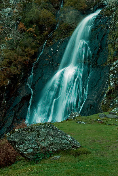 Aber Falls stock photo