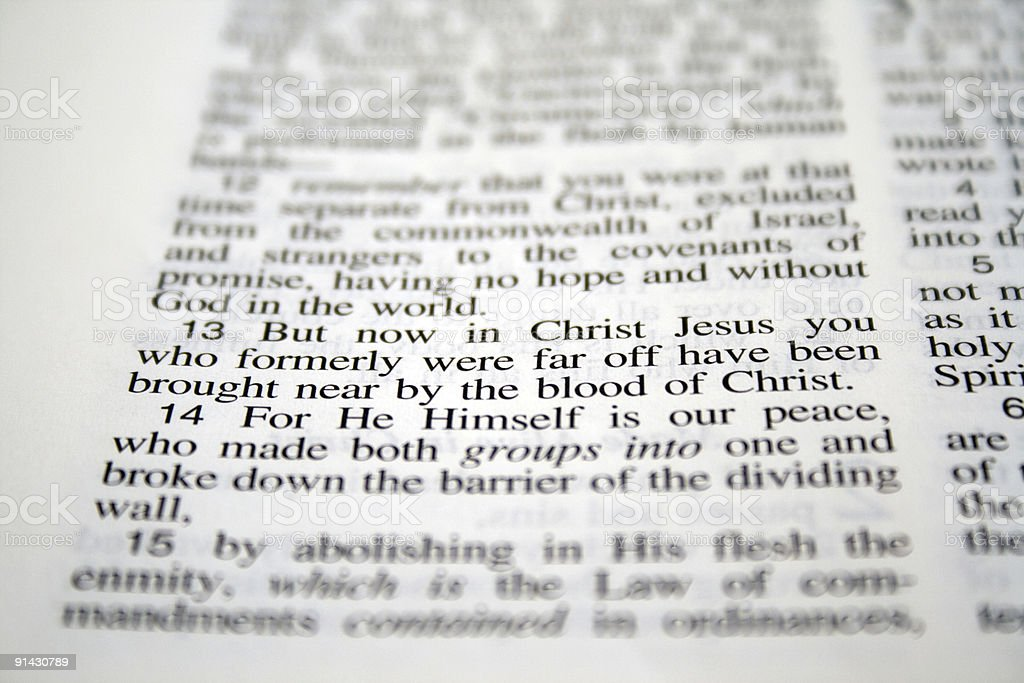 But now in Christ Jesus... royalty-free stock photo
