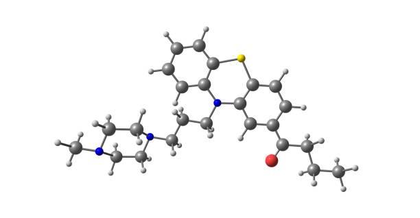 白分離的丁卡嗪分子結構 - naegleria fowleri 個照片及圖片檔