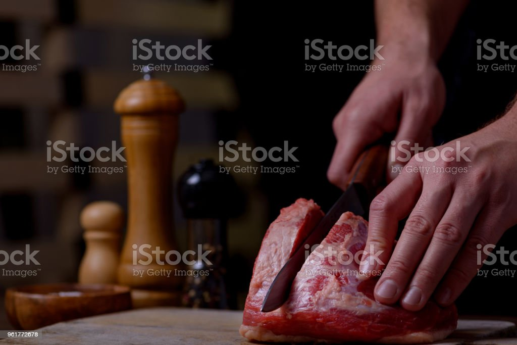 Butcher cuts beef stock photo