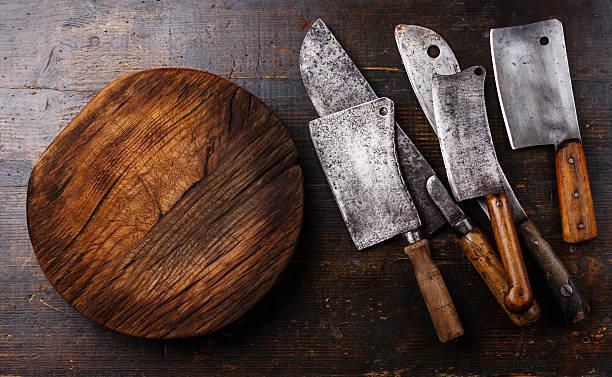 Et couper la viande de boucherie gaillet gratteron de groupe - Photo