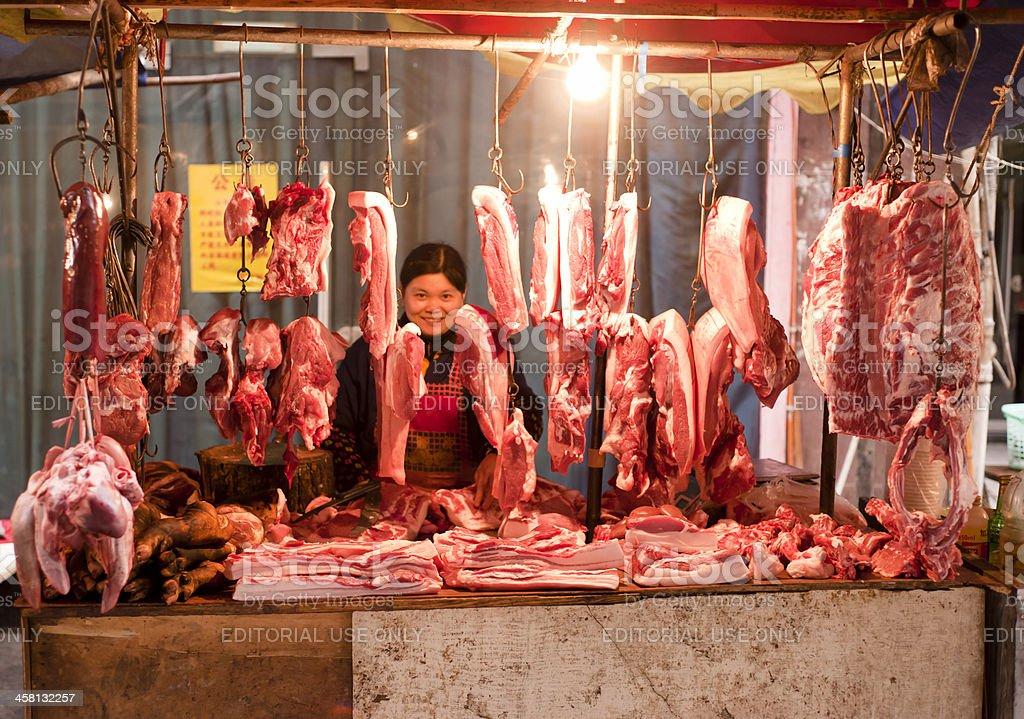 Butcher street stall royalty-free stock photo