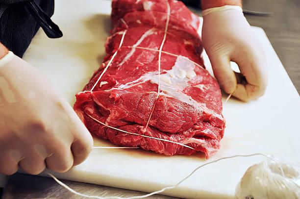 Rôtis de viande de boucherie serrage - Photo