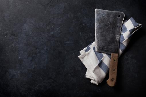 Butcher Vintage Meat Knife — стоковые фотографии и другие картинки Бетон