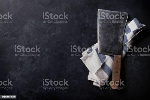 Slaktaren Vintage Kött Kniv-foton och fler bilder på Betong