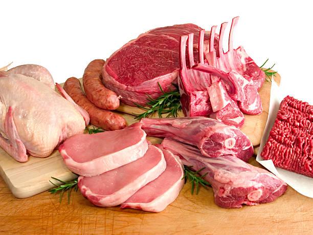 Butcher's Block - Meat stock photo