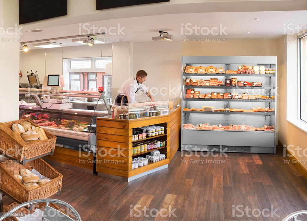 butcher's shop and deli stock photo