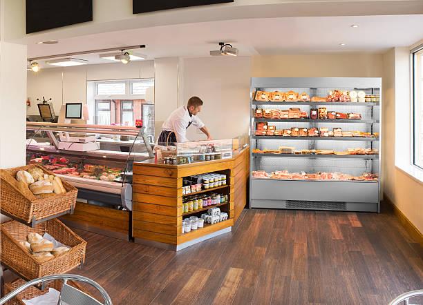butcher's shop and deli stock photo