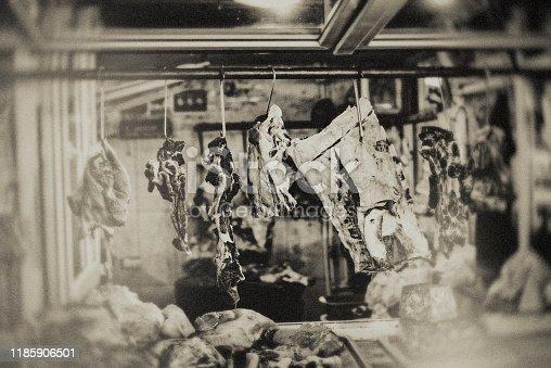 Market, market stall, Animal, Domestic Pig, Mammal, Pork, Georgia, The end, meat, butcher, vintage, beef,