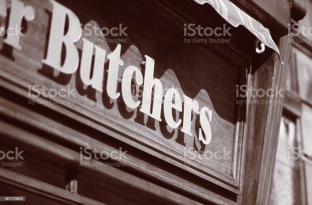 Butchers shop sign royalty-free stock photo