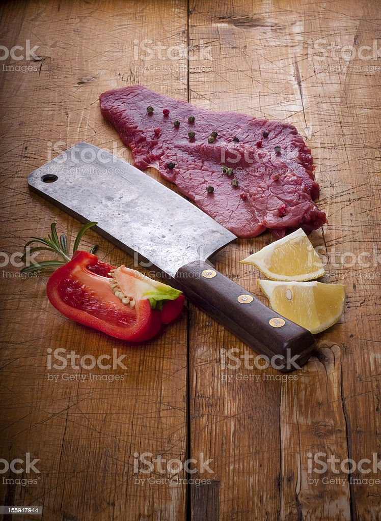 Butcher's still life royalty-free stock photo