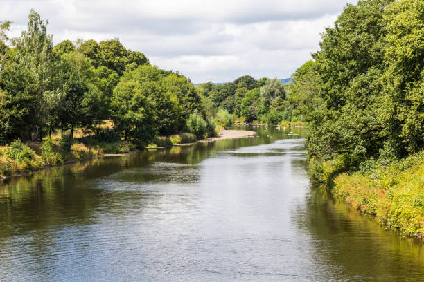 Bute park and Taff river, Cardiff, Wales, UK stock photo