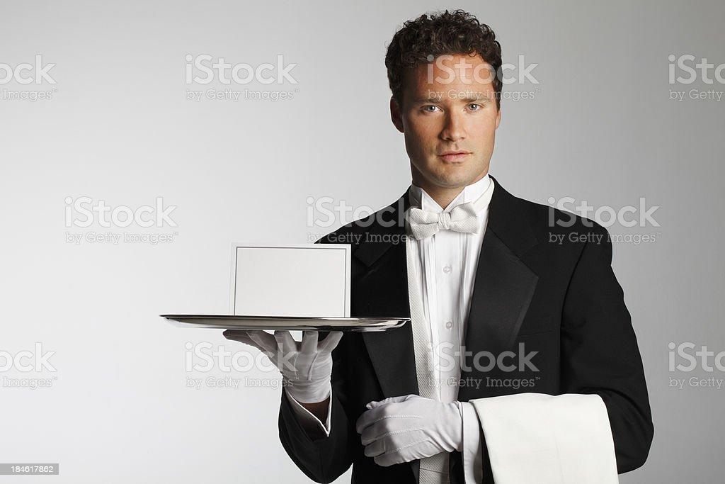 Butler or Waiter stock photo
