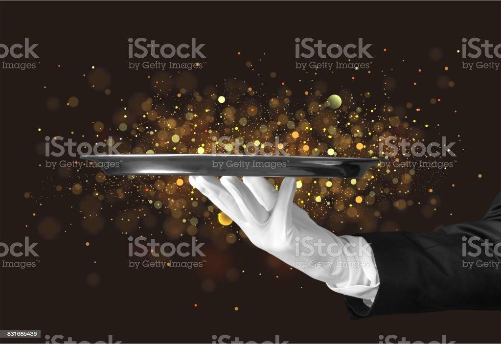 Butler. stock photo