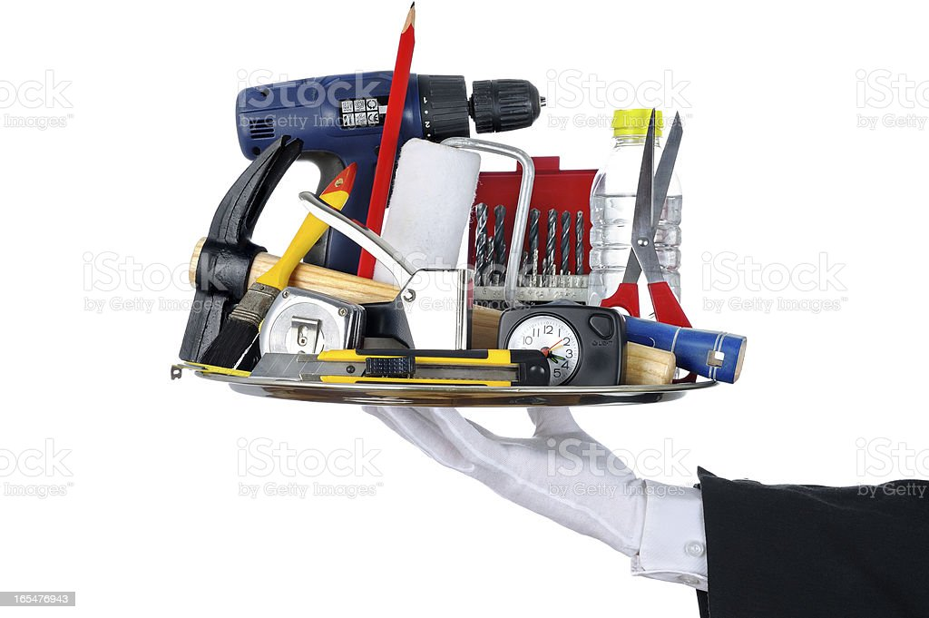 butler tools royalty-free stock photo