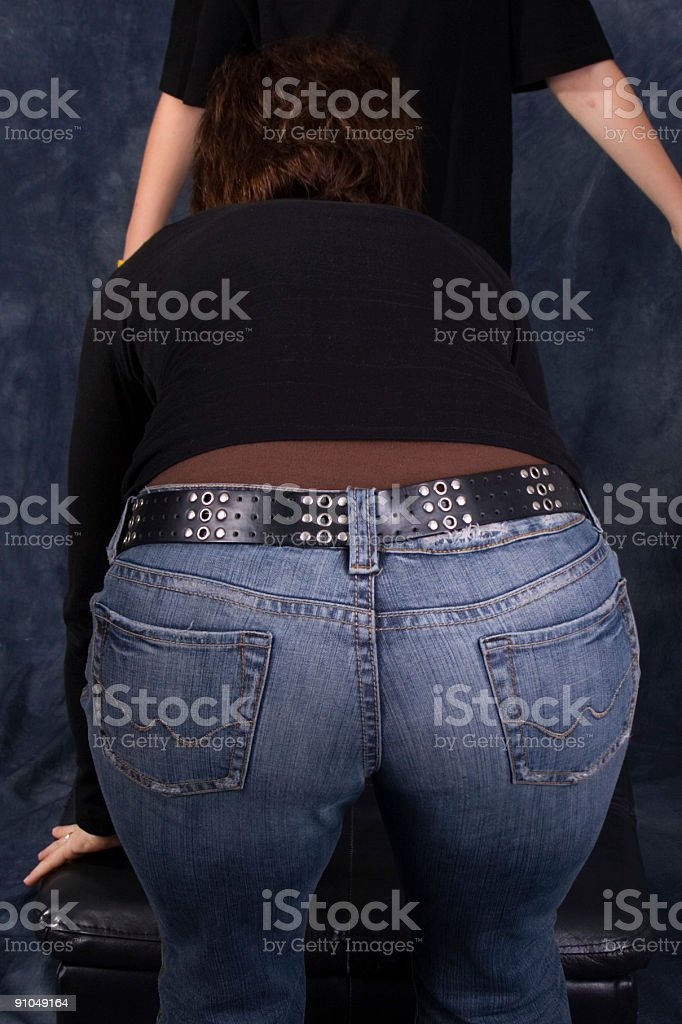 Butt in the way royalty-free stock photo