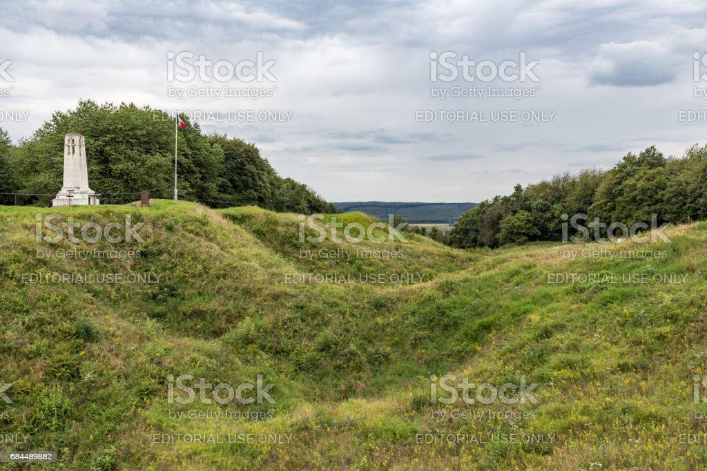 Butte de Vauquois, WW1 mine-cratered landscape near Verdun, France – zdjęcie