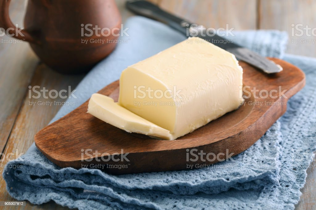 Butter and milk royalty-free stock photo