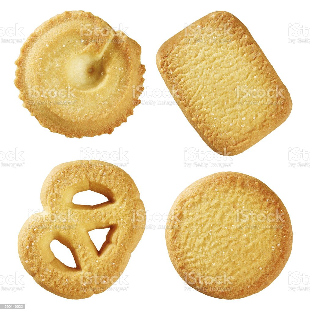 butter biscuit stock photo