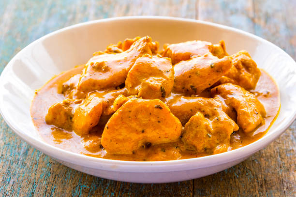 Butter Chicken Curry / Murgh Makhni - Indian Chicken Dish Butter Chicken /. Murgh Makhni Made With Tender Chicken Breasts, Served in a Bowl. butter chicken stock pictures, royalty-free photos & images