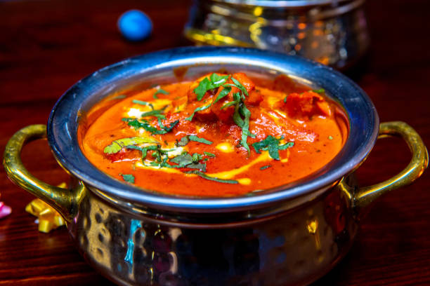 Butter Chicken - Indian Chicken Curry Dish This pic shows the famous dish in Indian food. Butter chicken is most popular dish and is widely available in most of the indian restaurant across the world. butter chicken stock pictures, royalty-free photos & images