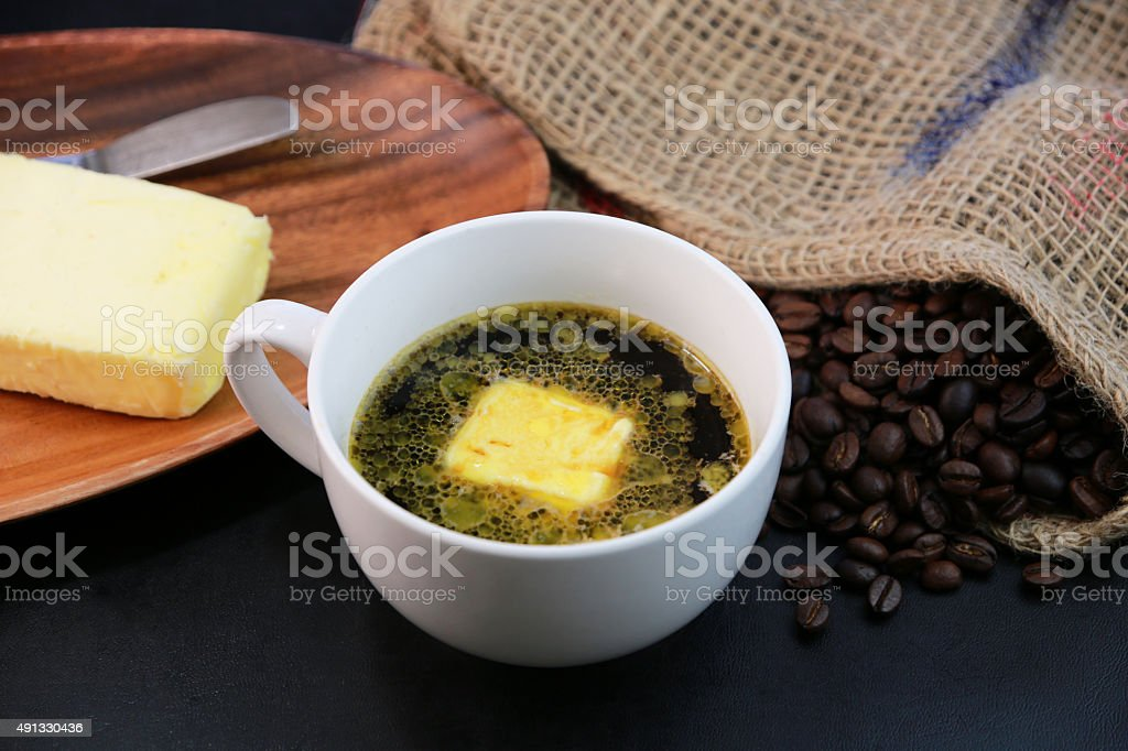 Butter coffee stock photo