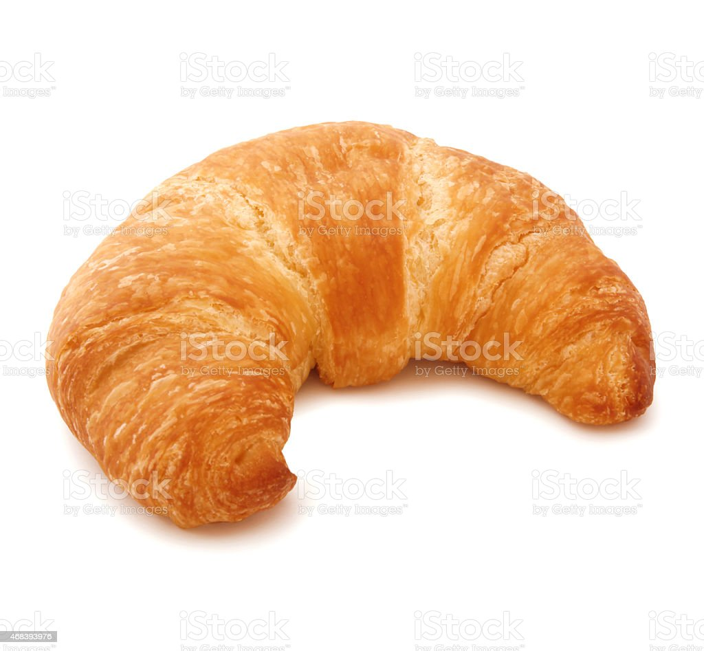 Butter Croissant (with path) stock photo