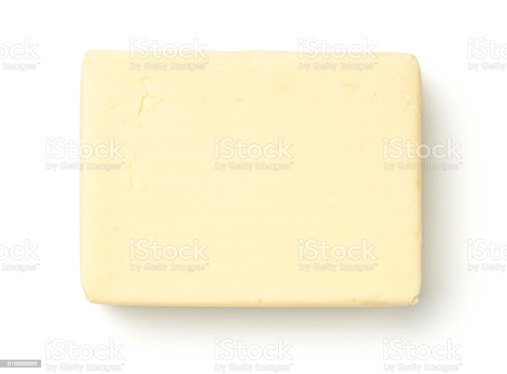 Butter Isolated on White Background stock photo