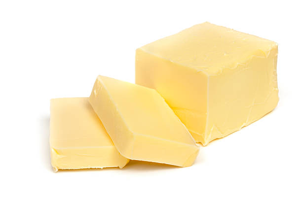 Butter Isolated on White stock photo