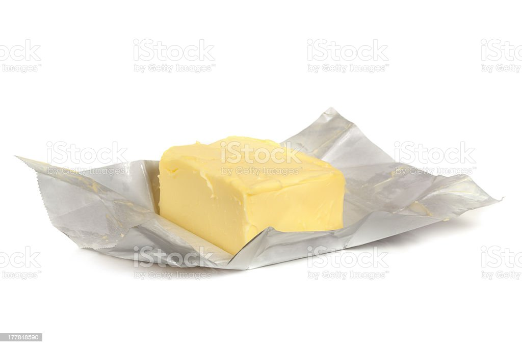 Butter on Foil stock photo