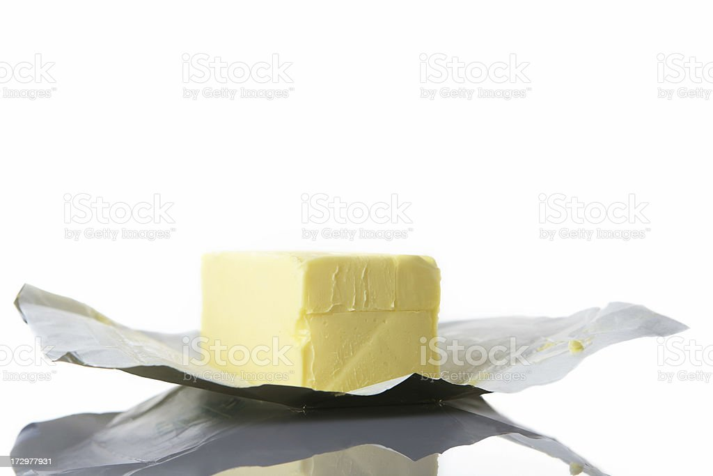 butter on wrap royalty-free stock photo