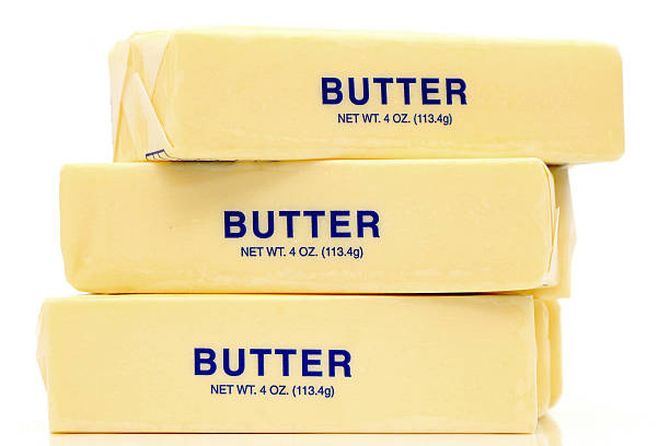 Butter Quarters stock photo