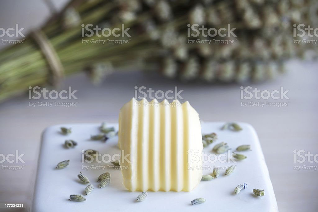 Butter swirl lavender scented stock photo