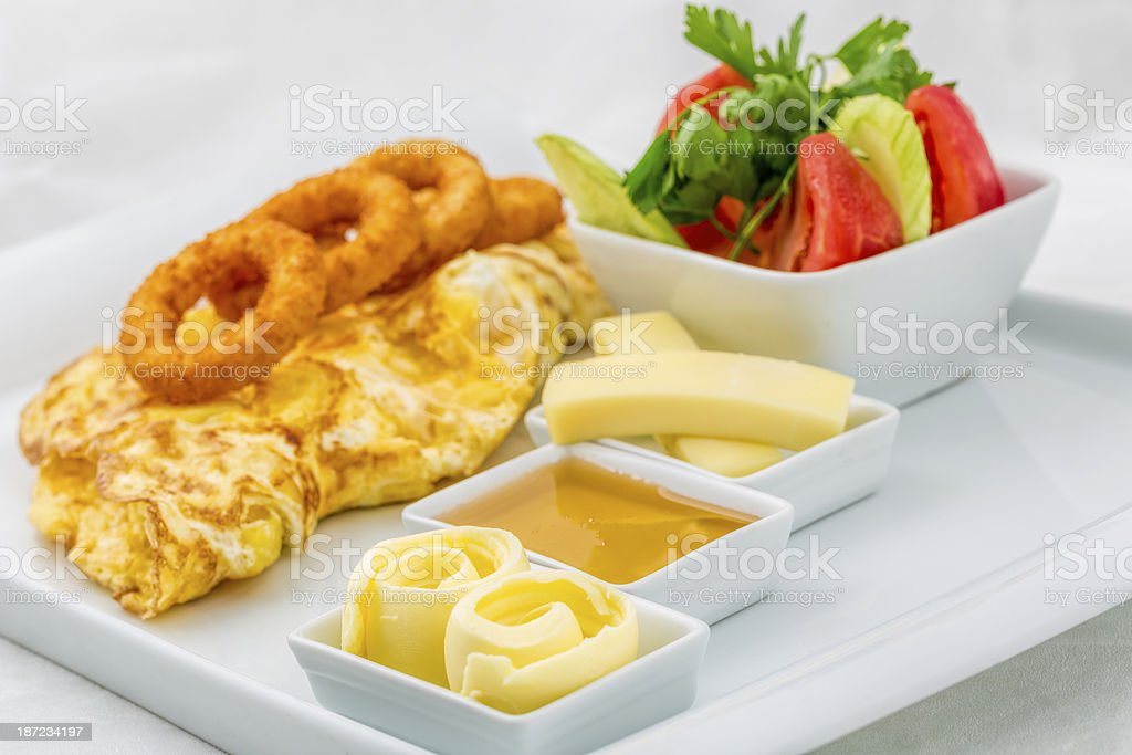 Butter with omelet royalty-free stock photo