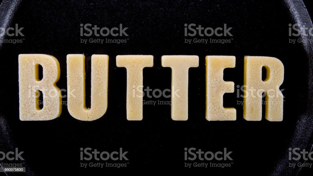 Butter Words Butter stock photo