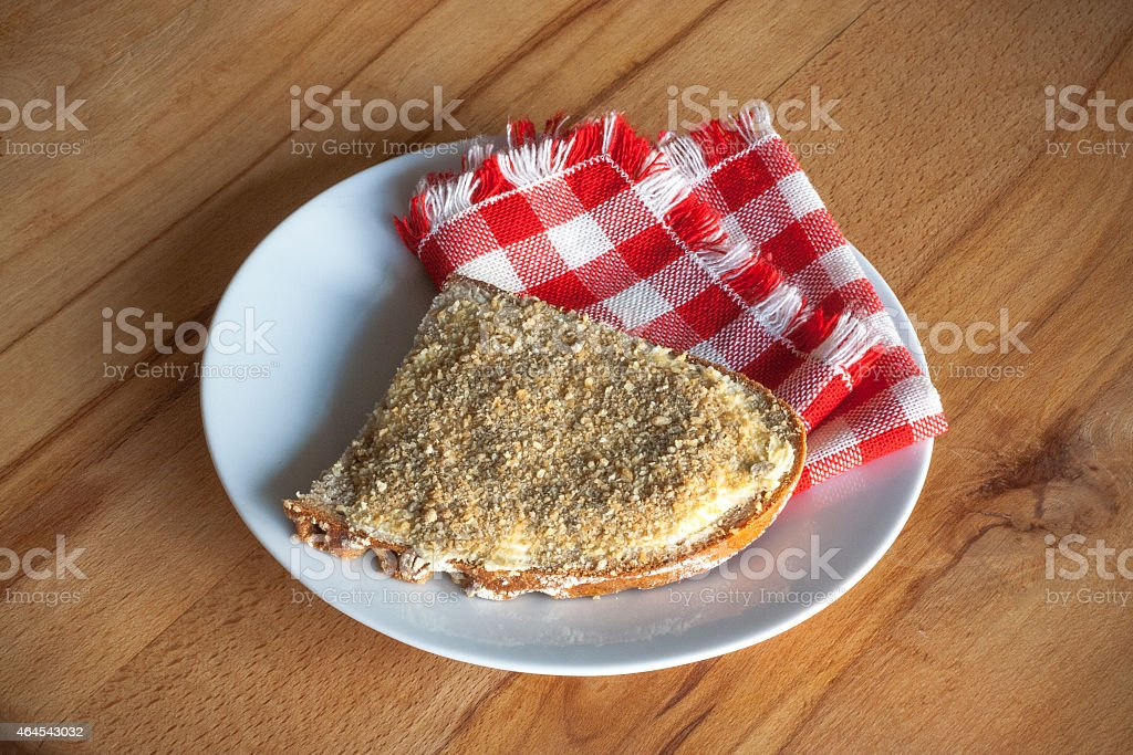 butterbread with cheese stock photo