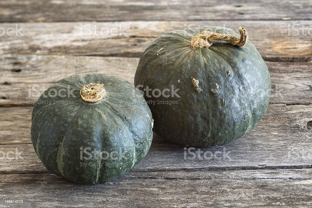 Buttercup Squash On Rustic Background stock photo