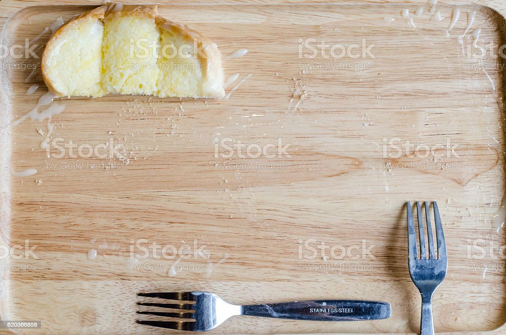 Buttered bread sprinkled sugar foto de stock royalty-free
