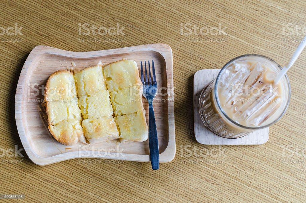 Buttered bread sprinkled sugar foto de stock royalty-free