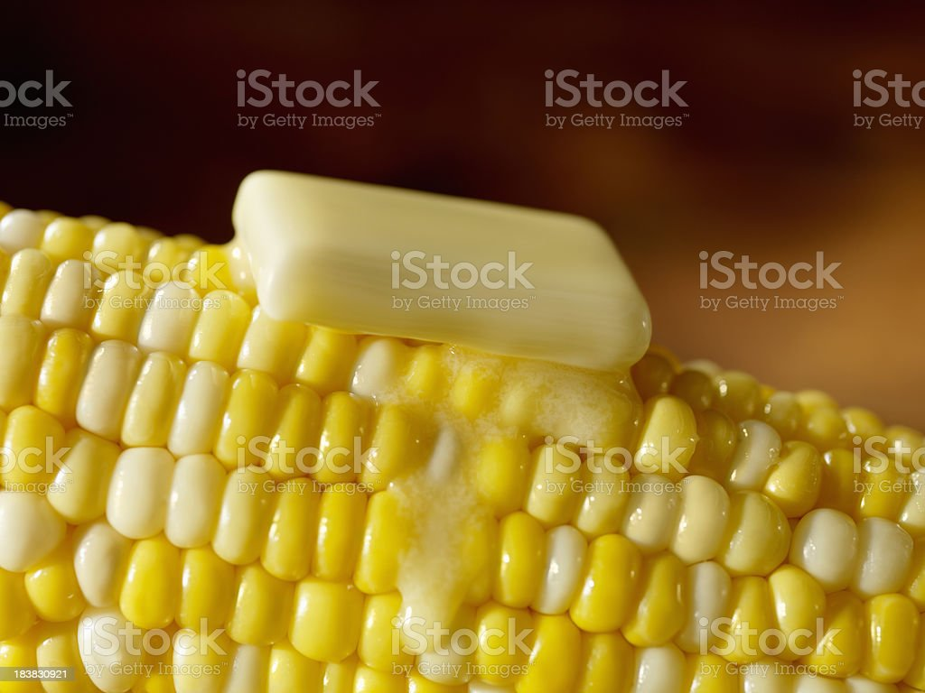 Buttered Corn on the Cob stock photo