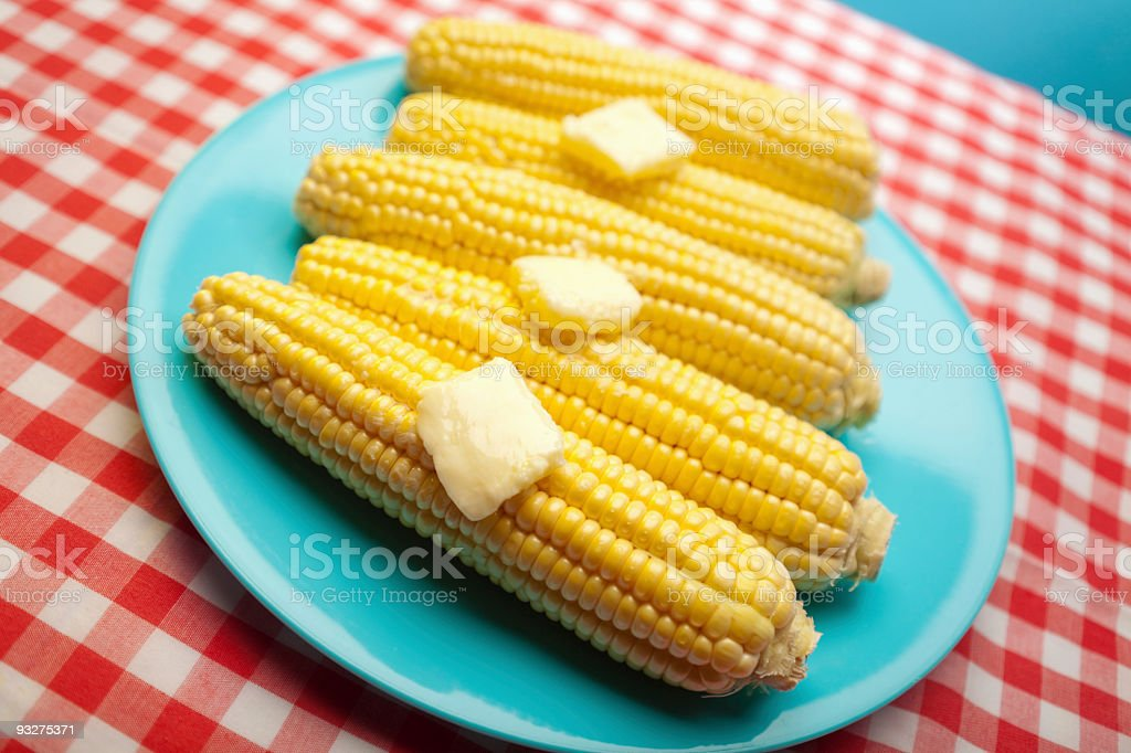 Buttered Corn royalty-free stock photo