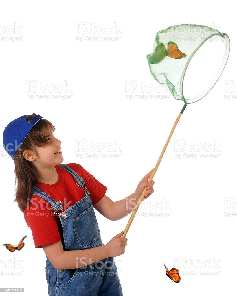 Butterfly Catcher royalty-free stock photo
