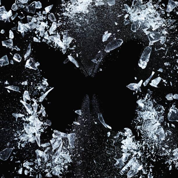 butterfly effect - ghiaccio foto e immagini stock